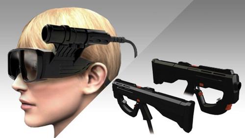 合金装备实景玩 头部跟踪3D眼睛展出